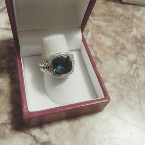 Scott Kay Jewelry - Scott Kay SS London blue topaz diamond ring 6.5